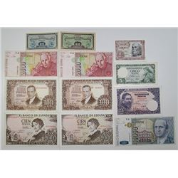 Banco de EspaÐa & Others. 1935-1996. Lot of 31 Issued Notes.