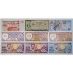 Centrale Bank van Suriname & Others. 1942-2000. Lot of 17 Issued Notes.