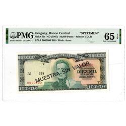 Banco Central del Uruguay. ND (1967). Lot of 6 Specimen Notes.