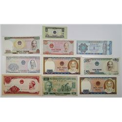 Various Issuers in Vietnam & Myanmar. 1960s-1990s. Lot of 21 Issued Notes.