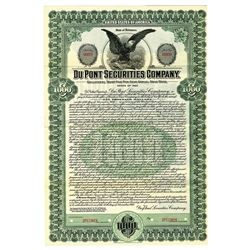 Du Pont Securities Co., 1915 Specimen Bond