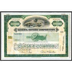 General Motors Corp., 1984 Unique Essay Design Model Proof Stock Certificate.