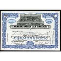 Hudson Motor Car Co., 1949 Uniface Proof Stock Certificate.