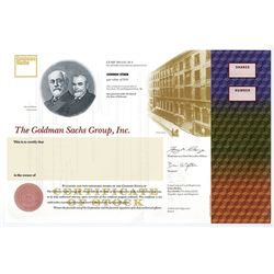 Goldman Sachs Group, Inc. Specimen Stock Certificate