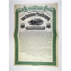 KS. Inter-State Loan & Trust Co., 1880s $500 Specimen 6% Gold Coupon Bond, XF