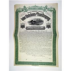 KS. Inter-State Loan & Trust Co., 1880s $500 Specimen 6% Gold Coupon Bond, XF