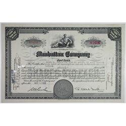 Manhattan Co. 1936 I/C Stock Certificate