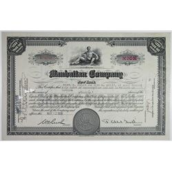 Manhattan Co. 1936 I/C Stock Certificate