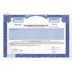 Nasdaq Stock Market, Inc. 2001 Specimen Stock Certificate
