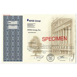 NYSE Group, Inc. 2006 Specimen Commemorative Stock Certificate
