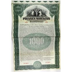 Poulsen Wireless Corp., 1911 Specimen Bond.