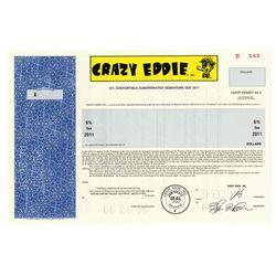 Crazy Eddie, 1986 Specimen Bond  Eddie Anton  Scam company.