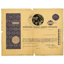 International Business Machines Corp. (IBM) 1960's Proof Stock Certificate