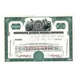 International Business Machines Corp., ca.1950-60 Specimen Stock Certificate