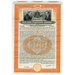 New York Telephone Co. 1909 Specimen Bond.