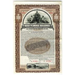 Bush Terminal Buildings Co. 1910 Specimen Bond