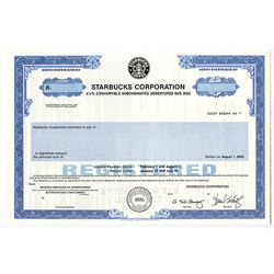 Starbucks Corp. 2003 Specimen Stock Certificate