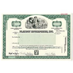 Playboy Enterprises, Inc. 1990 Specimen Stock Certificate
