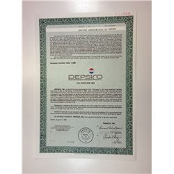 PepsiCo, 1989 1,000 ECU Specimen 7 3/8% Bond, XF S-C USBNC - Green