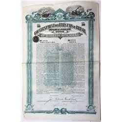 Gouvernement des Etats Unis du Bresil 1908 I/U Bond.