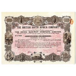 British South Africa Co., 1893 Beira Railway Co., Ltd. Specimen Share Certificate
