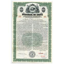 Republic of Chile, 1948 Specimen Coupon Bond