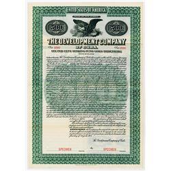 Development Co. of Cuba, 1907 Specimen Bond