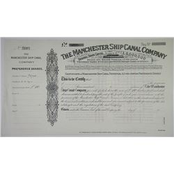 Manchester Ship Canal Co., 1924 Specimen Stock Certificate