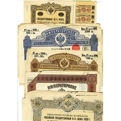 Large Group of Issued Russian Bonds ca.1891-1924