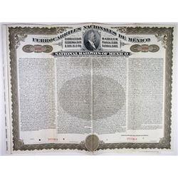 National Railways of Mexico, 1908 Specimen $1000 U.S. Gold Bond
