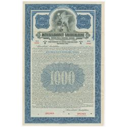 Aktieselskabet Saudefaldene (Sauda Falls Co., Ltd.) 1925 Specimen Bond.
