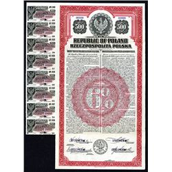 Republic of Poland 1920 Specimen USA Dollar Gold Bond