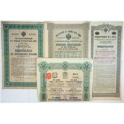 Imperial Russian Government, 1894-1915, Quartet of Bonds.