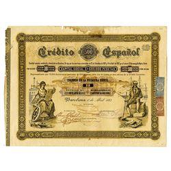 Government of Spain, 1883 I/U Stock-Bond