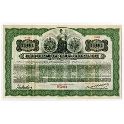Anglo-French External Loan, 1915 Specimen Bond