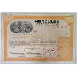 Hercules Inc 1972, Unique Production Mock-up Proof by design department.