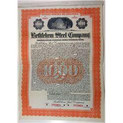 Bethlehem Steel Co., 1919 Specimen Bond