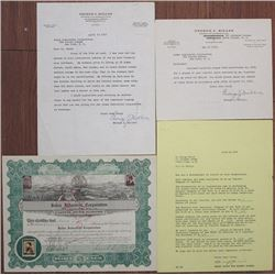Judea Industrial Corp. 1926 Stock Certificate & Liquidation Documents