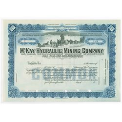 McKay Hydraulic Mining Co., Specimen Stock Certificate, Alaska Mining Related Company.