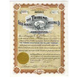 Tribune Gold Mining & Milling Co., 1908 I/U Stock Certificate