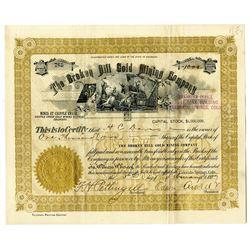 """Broken Hill Gold Mining Co. 1897 """"Cripple Creek"""" Stock Certificate"""