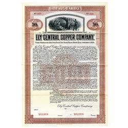 Ely Central Copper Co., 1910 Specimen Bond