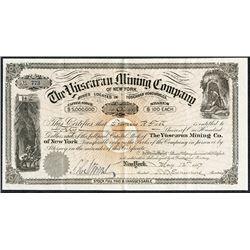 The Yuscaran Mining Co., 1887 I/U Stock Certificate.