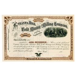 Atlanta Hill Gold Mining and Milling Co., 1880's (ca.1881-1888) Specimen Stock Certificate.