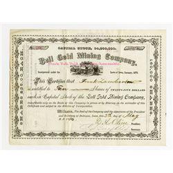 Bell Gold Mining Co. 1880 I/u Stock Certificate