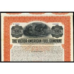 Victor-American Fuel Co. 1910 Specimen bond.