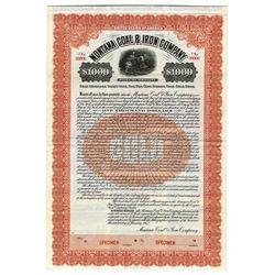 Montana Coal & Iron Co. 1912 Specimen Bond.