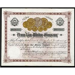 Penn- Yan- Mining- Co. 1887 I/U Stock Certificate