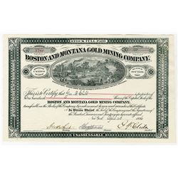 Boston & Montana Gold Mining Co., 1886 Issued Stock.