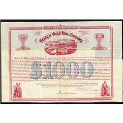 Brady's Bend Iron Co. 1867 I/U Bond